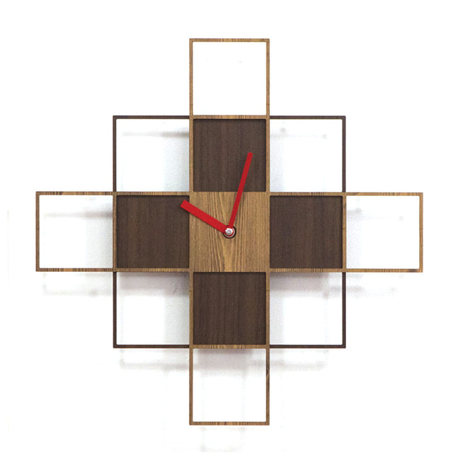 Retro Pine Wood Wall Clock