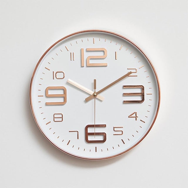 Round Thin Box Home Decoration Wall Clock