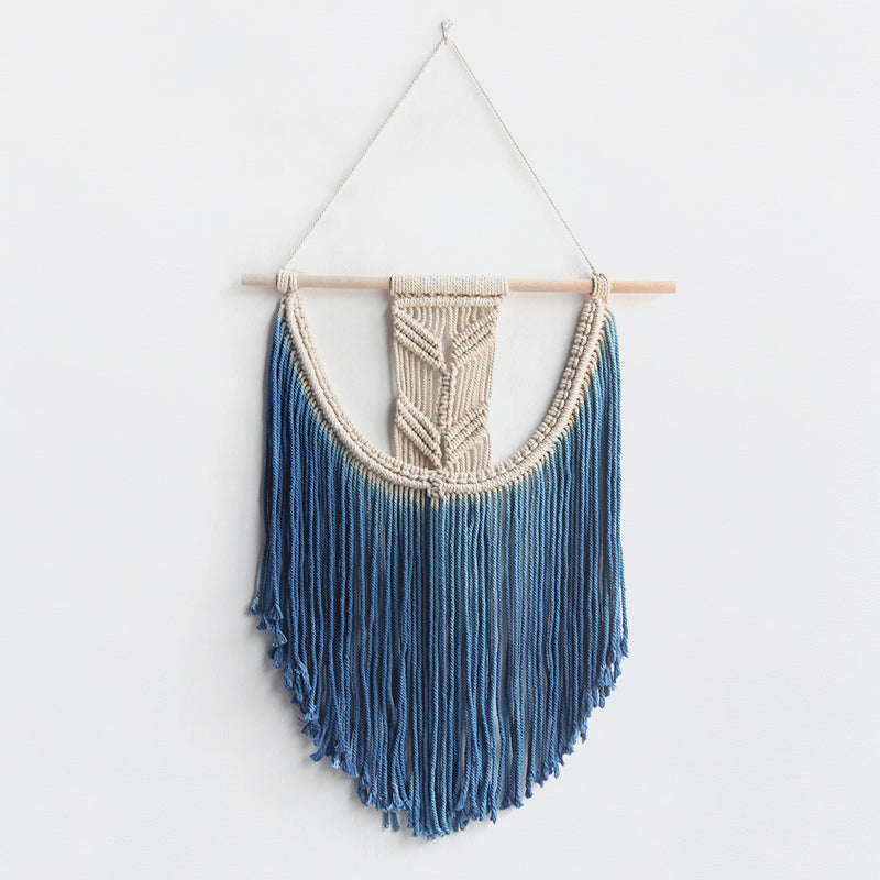Hand woven wall hanging tapestry