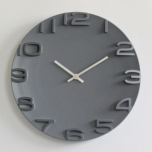 Modern Minimalist 3D Digital Wall Clock