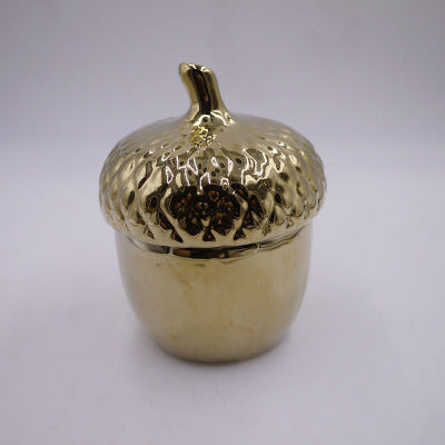 Lovely Golden Pinecone seal jar