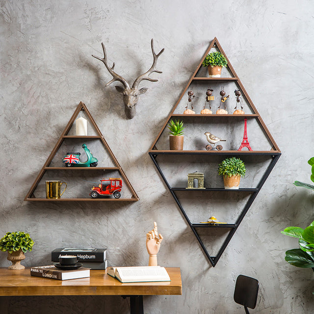 Metal Industrial Triangular Wall Storage Holder