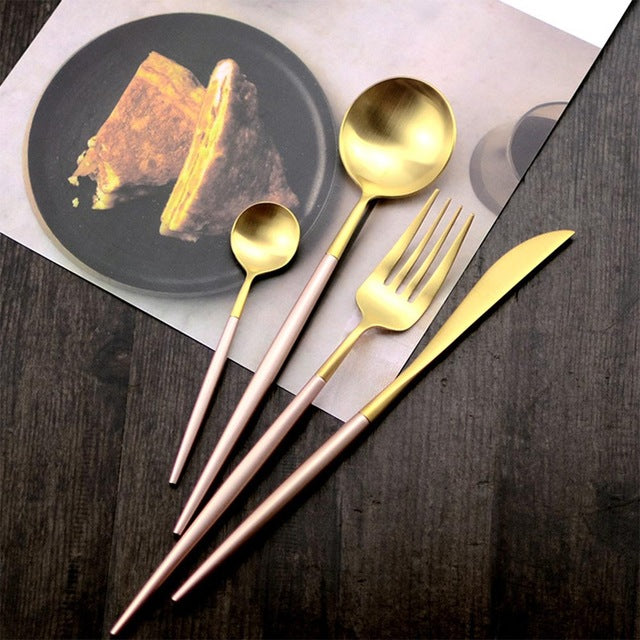 Elegant tableware  steak knife fork suit