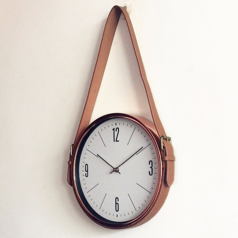 European Creative Belt Wall Clock