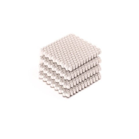 Hex Coaster Set White Concrete - Slab Homewares