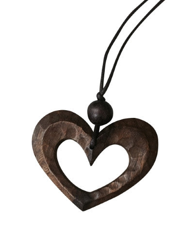 Necklace Heart Natural