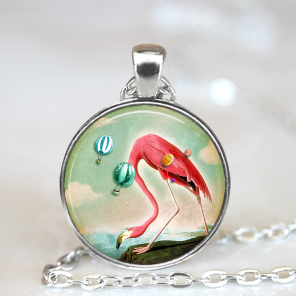 Florida Flamingo Necklace