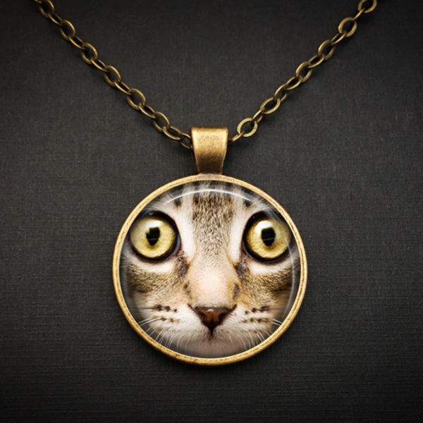 Brown Cat Face Necklace