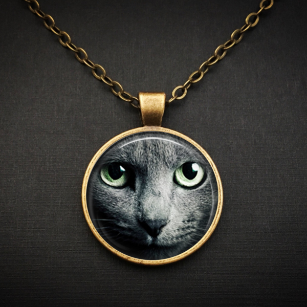 Black Cat Face Necklace