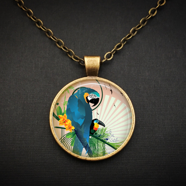 Blue Parrot Necklace