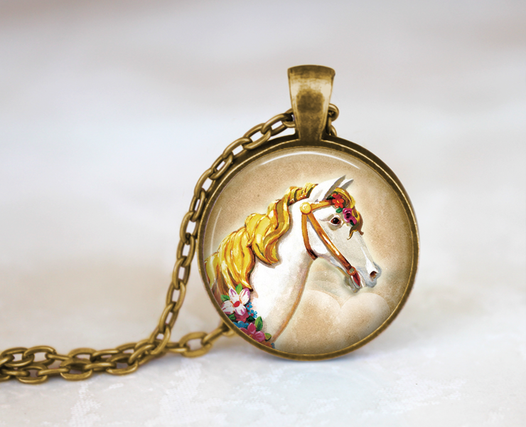 Carnival Horse Necklace