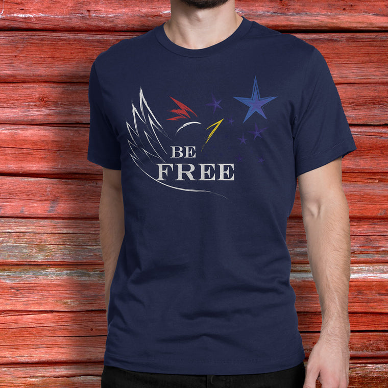 Be FREE mens t-shirt - CLUCK OFF