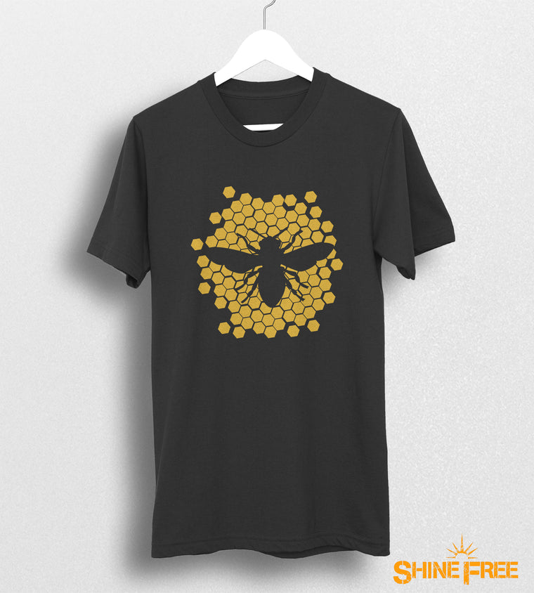 Honey Bee Comb - Logo Tee