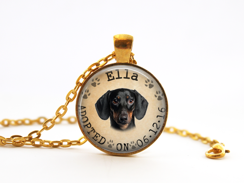 Your Pet Name, Picture, and Date Necklace