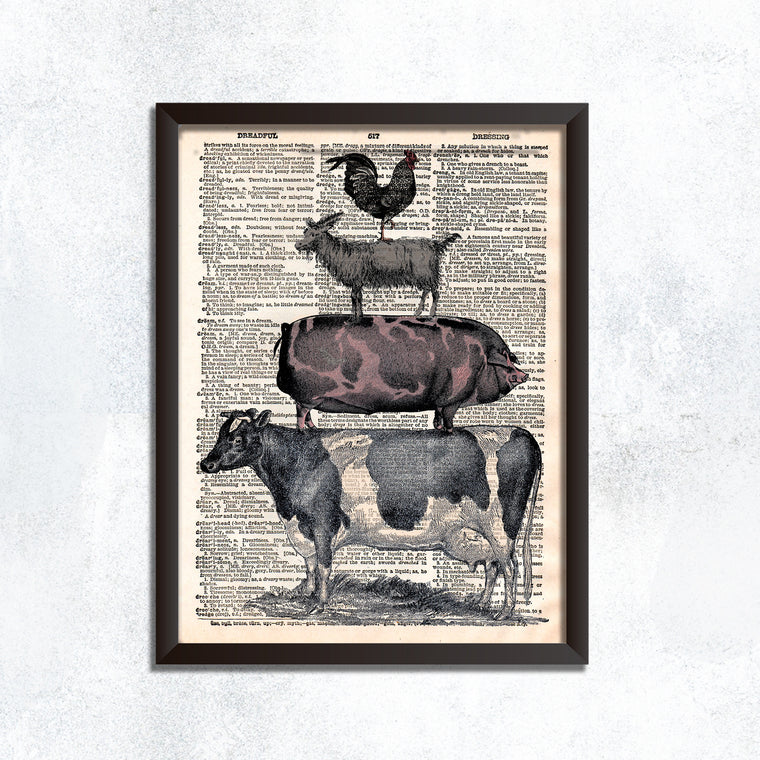 Farm Animal Stack - Print