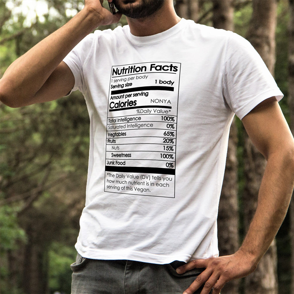 Vegan Nutrition Facts - Men's Tee