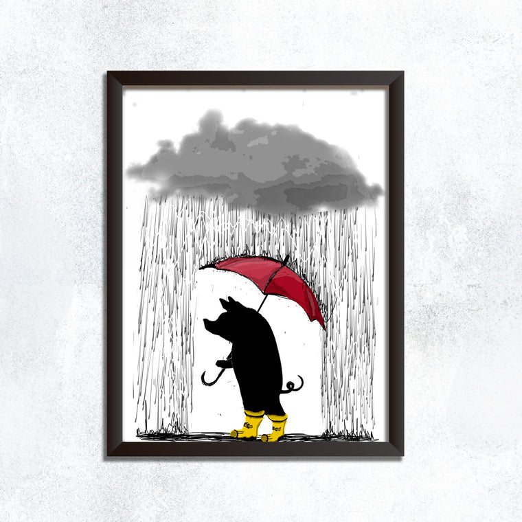 Stroll Through the Rain - Print