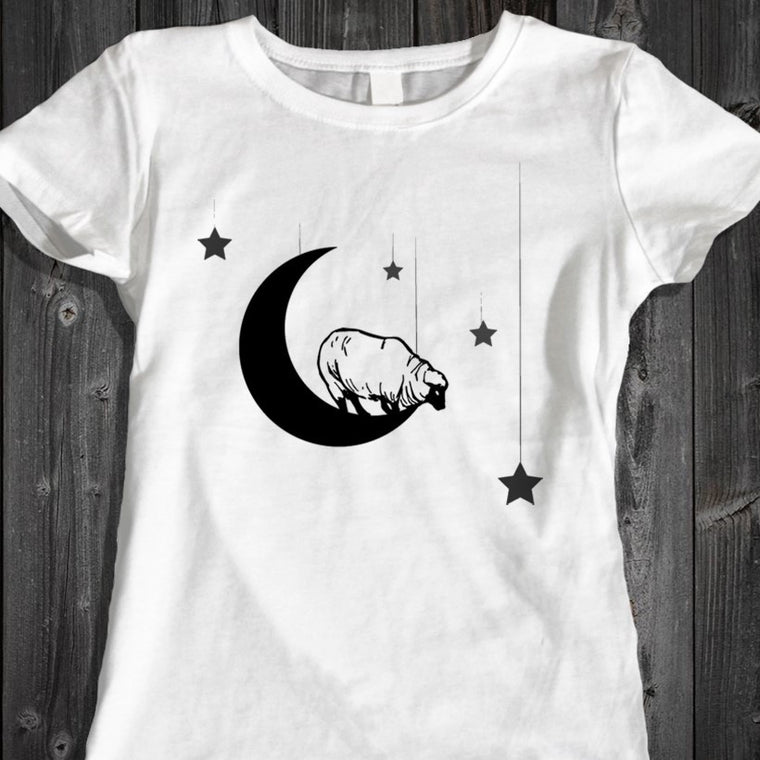 Sheep on the Moon - Women's Tee