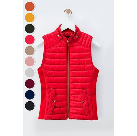 trend:notes - ULTRA LIGHT SLEEK COLLARED PUFFER VEST