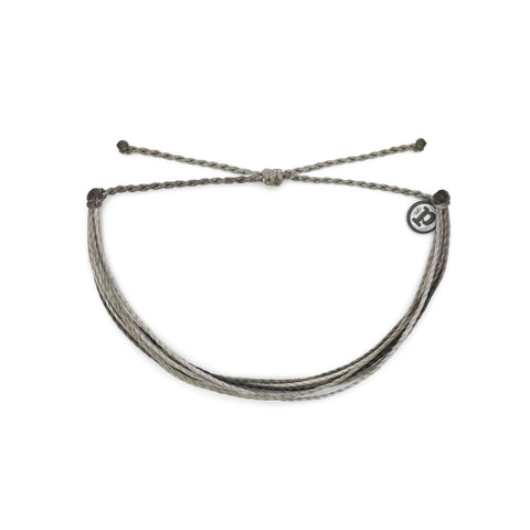 This is the original, cord bracelet from Pura Vida - the signature style that started it all! It's made up of multiple strands of anchor-grey cords for a look that's easy to wear and layer. Plus, you can wear it anywhere! Its a waterproof cord that's also easily adjustable!