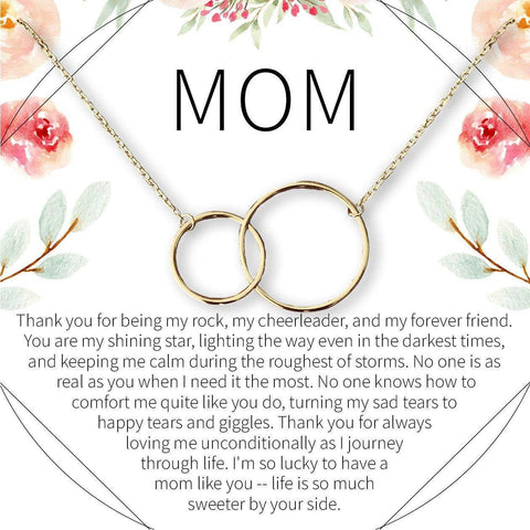 Mom Necklace Silver