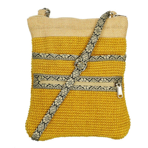 GreenJute - Yellow Jute Hipster Sling Bag