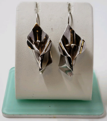 Sterling Silver Calla Lily Earrings
