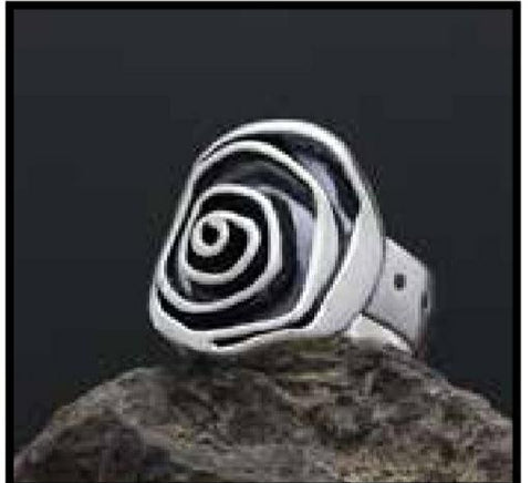 Spirling Rose Ring Size 7 by Sherry Tinsman