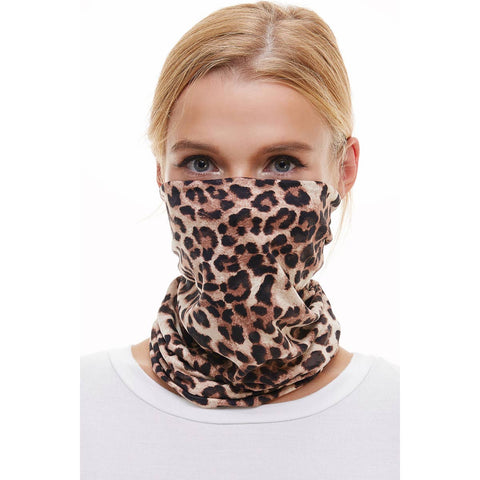 Mask USA made reusable Neck Gaiter bandana scarf/face mask leopard