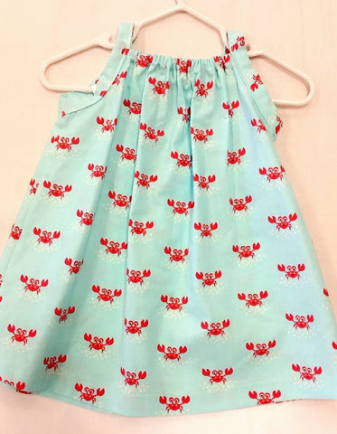 Crab Baby Dress Size 9-12 months