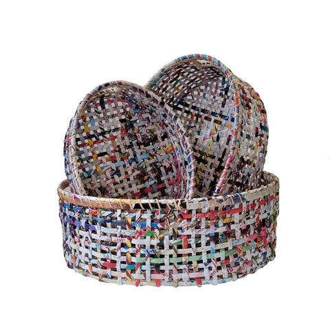 The Upcycled Paper Company - Oval Basket - Recycled Paper