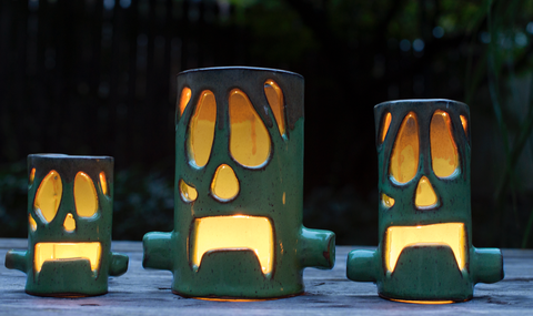 Halloween Frankenstein Luminary green