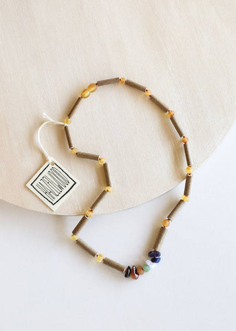 Adult: Hazelwood + Raw Chakra Crystal Necklace
