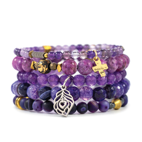 Women's Colors for Causes bracelet purple