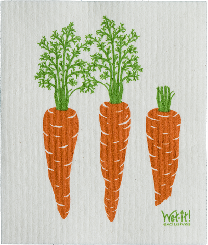 Wet-it! - Carrots by Row Swedish Cloth