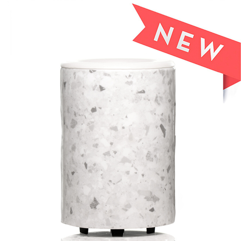 Happy Wax - *New* Mod Wax Warmer - White Terrazzo