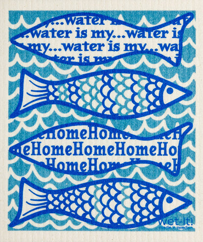 Wet-it! - Water is my Home Swedish Cloth