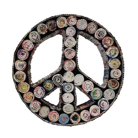 The Upcycled Paper Company - Peace Sign Figure - Recycled Paper