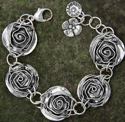 Sherry Tinsman Swirling Rose Bracelet