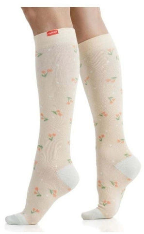 Compression leg Wear spring flowers