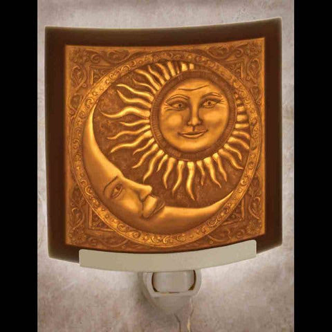 The Porcelain Garden Inc. - Sun and Moon Curved Night Light