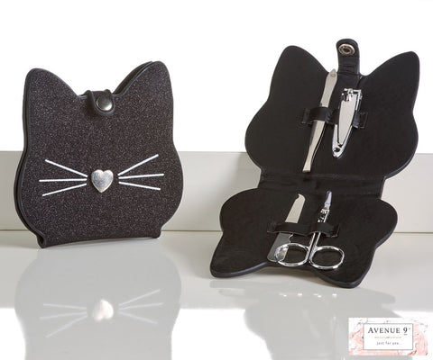 Black cat manicure kit
