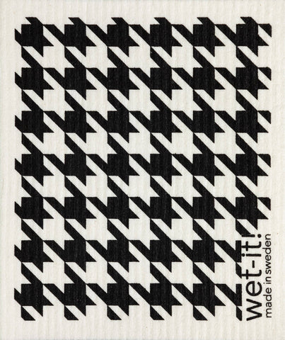 Wet-it! - Houndstooth Black Swedish Cloth