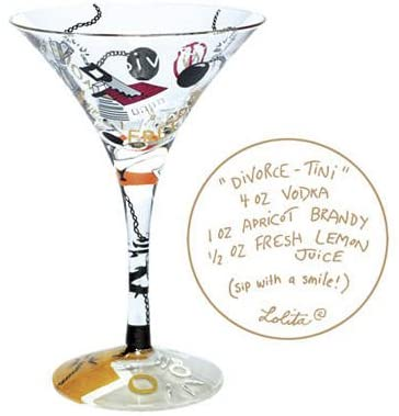 """Divorce-Tini"" Martini Glass"