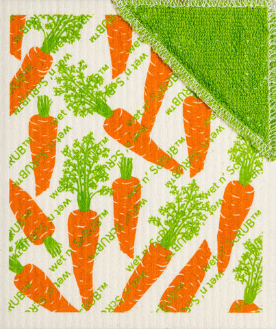 Wet-it! - Carrots Wet'n Scrub Swedish Cloth