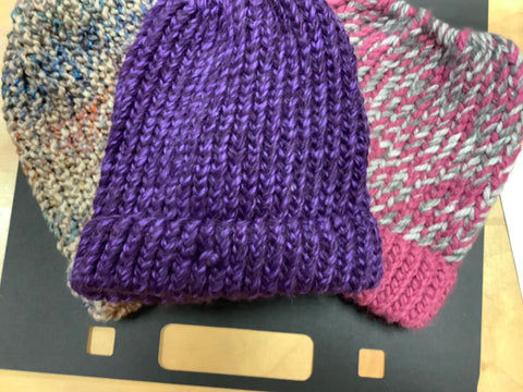Various Hand-Knitted Hats by Jen