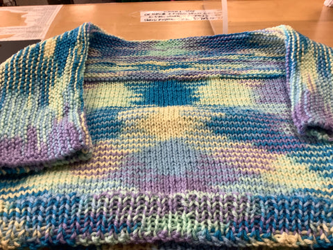 Youth Sweater with Multi Pastel Colors by Frances