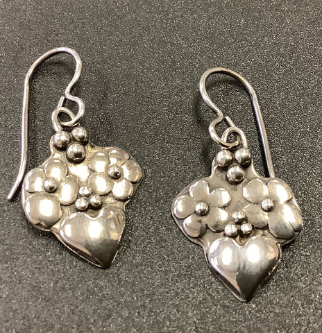 Flowers And Hearts Earrings