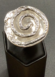 Textured Spiral Ring Size 8 by Sherry  Tinsman