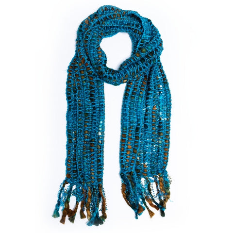 Rising Tide Iman Scarf Turquoise